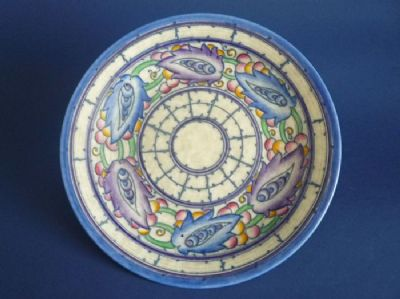 Charlotte Rhead Crown Ducal 'Persian Leaf' Rare Small Charger c1938 - Pattern 5391